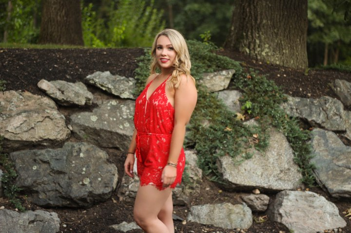 3af8e46398d Red Lace Romper Outfit Post – My Loquacity